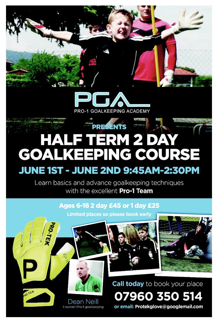 Pro1 Goalkeeping Academy - Half Term Holiday Course 2016
