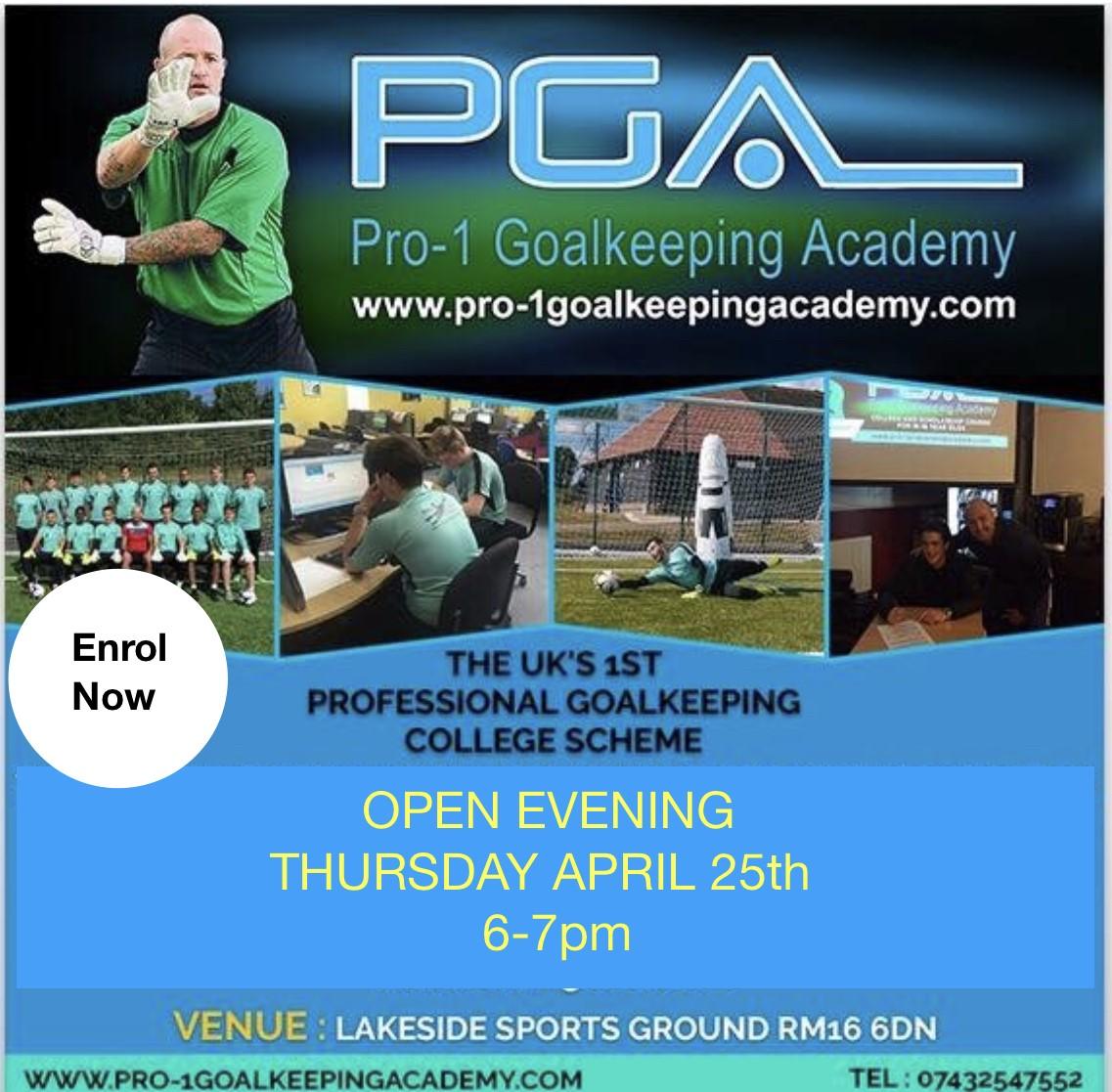Goalkeeping College Open Evening
