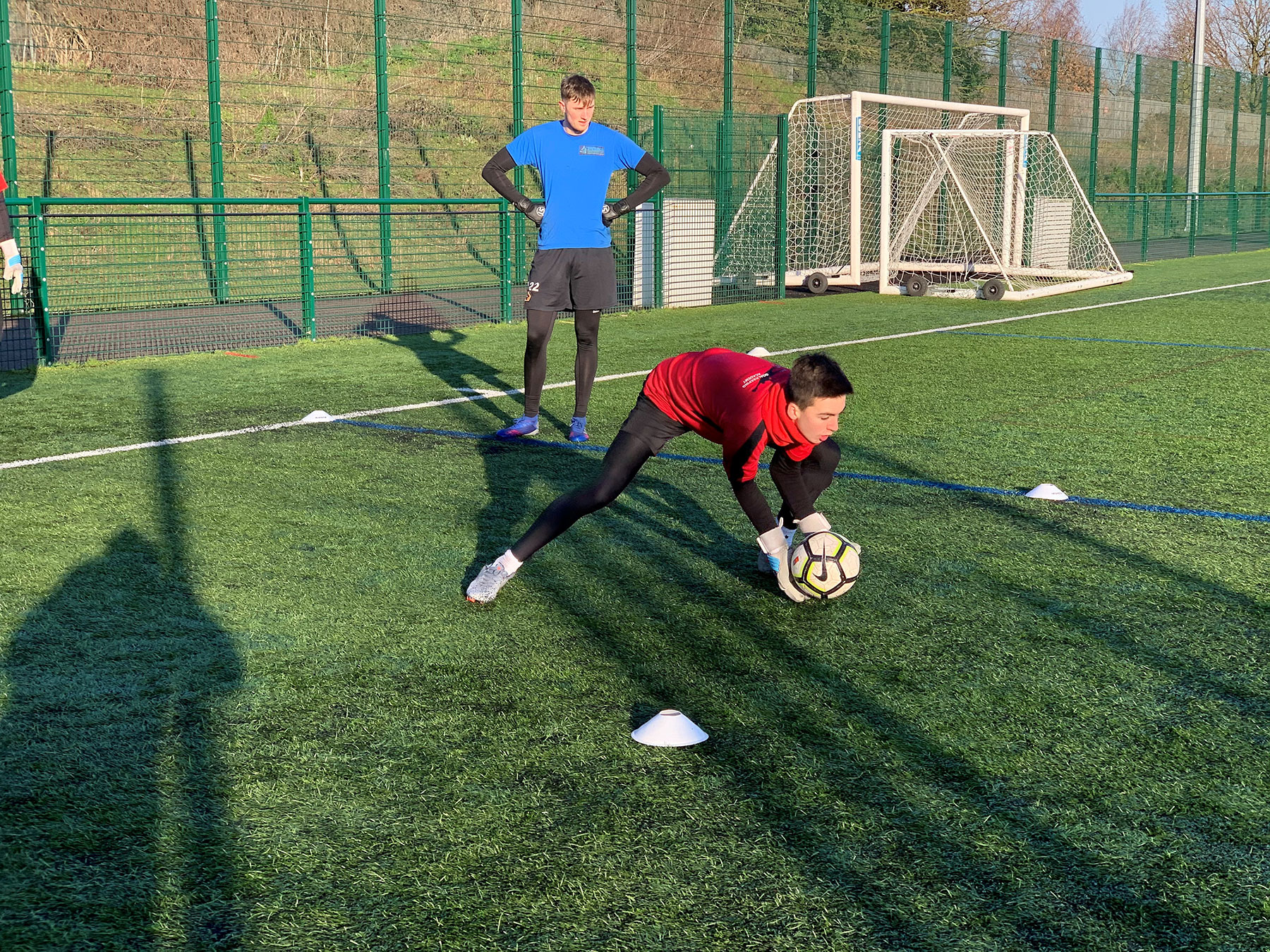 Goalkeepers training really well
