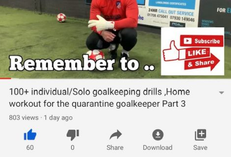New goalkeeping lockdown/quarantine workout