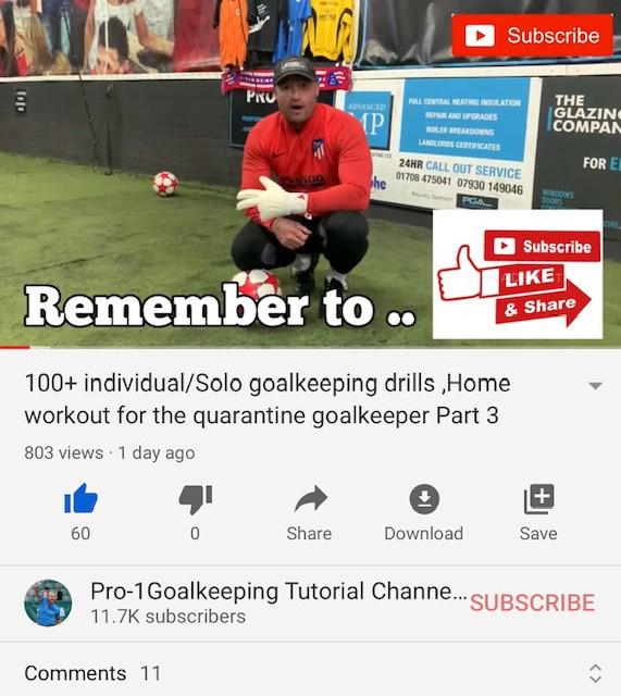New goalkeeping lockdown/quarantine workout