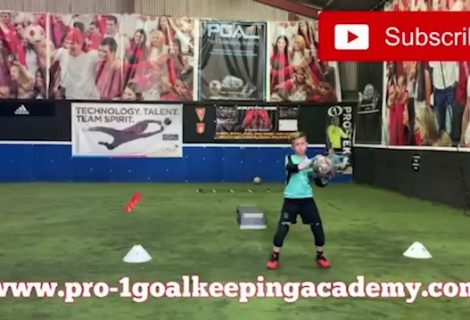 Here you see 10 year old george of the Pro-1 Goalkeeping Academy.